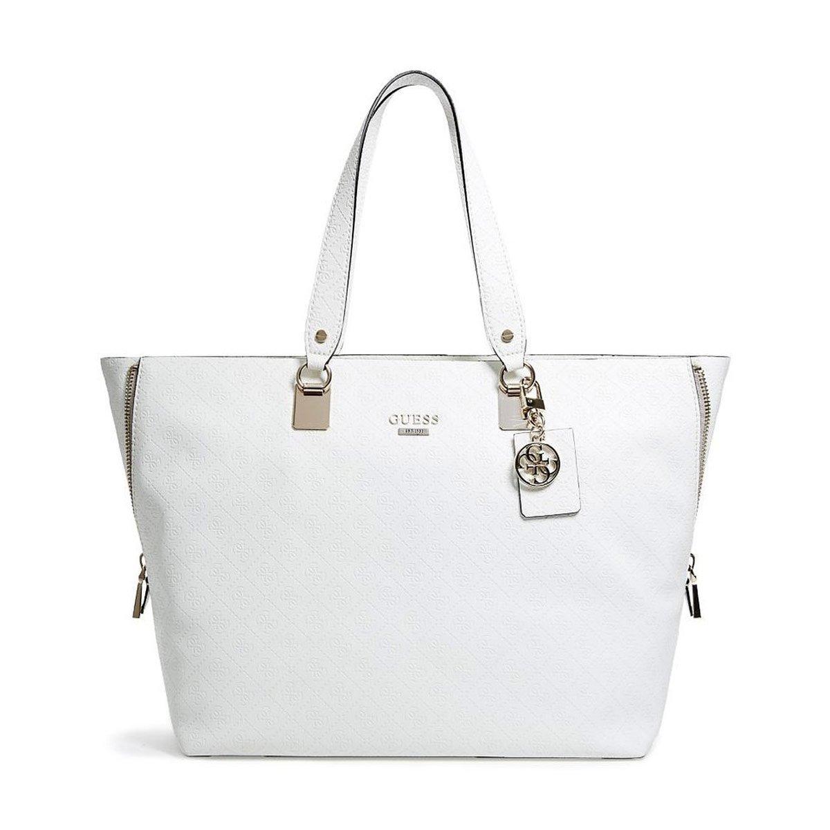 1fd7fa05df26 ... Guess SG634324BON Womens Shantal Quattro G Logo White Bone Faux Leather  Tote buy online 4be86 6c4b2  Guess - Black ...