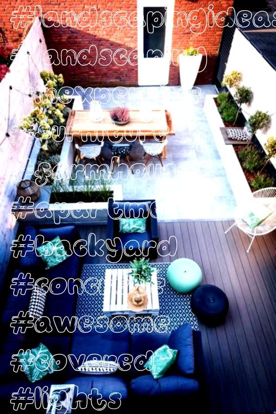 ideas create your unique awesome backyard landscaping diy inexpensive on a budget patio  Small backyard ideas for small yards  Apartment Backyard Concrete Covered Design...