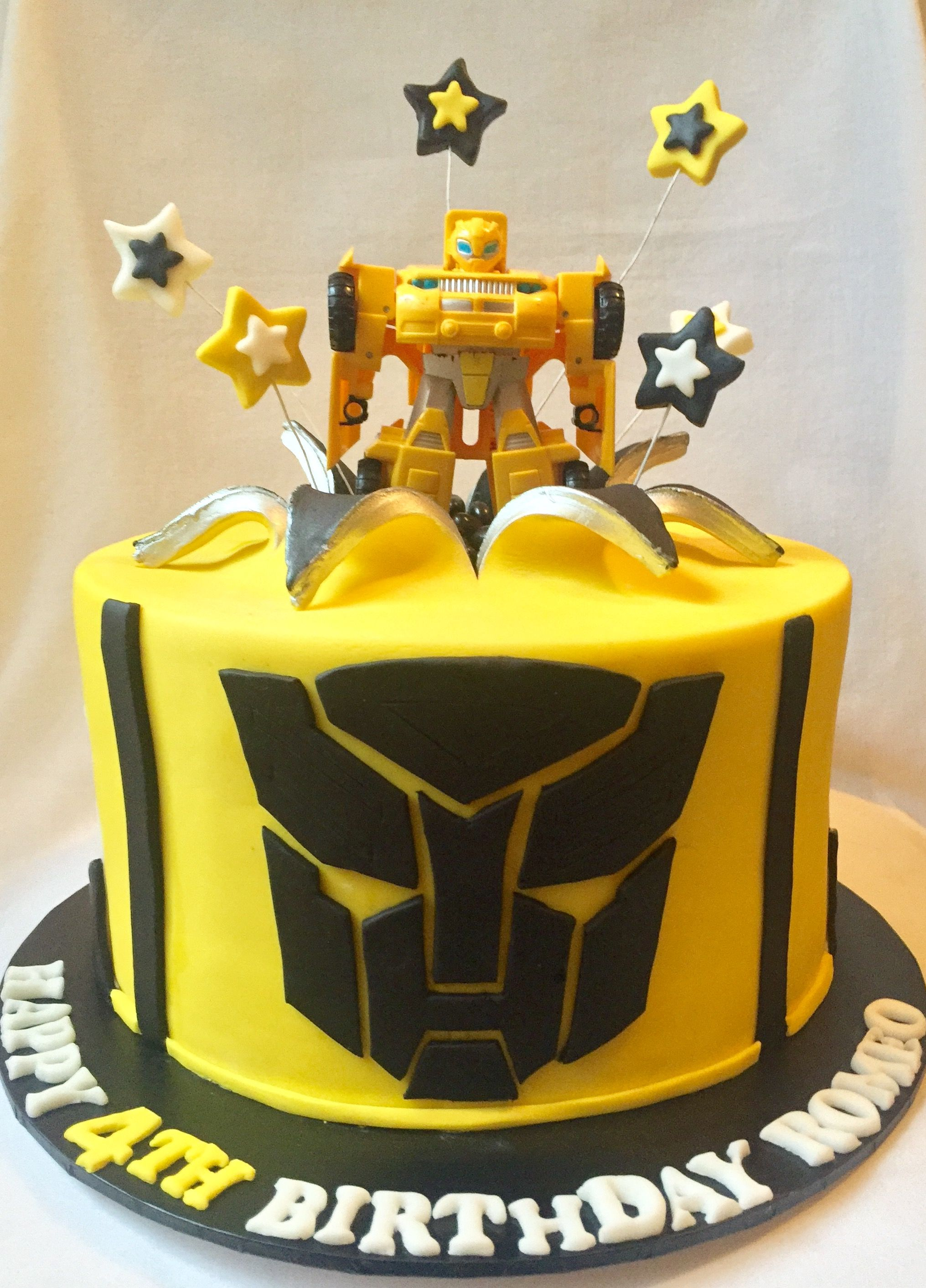 Bumble Bee Transformer Cake By Cupcakes For Your Cupcake