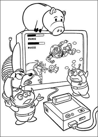 Free Toy Story Coloring Pages 2