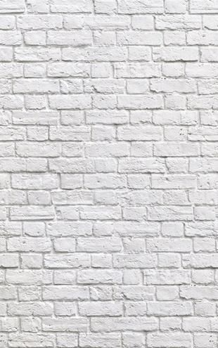 Photowall Brick Wall White E20332