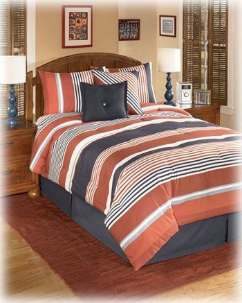 6 Piece Stripe Full Set By Ashley Furniture By Ashley 120 91 1