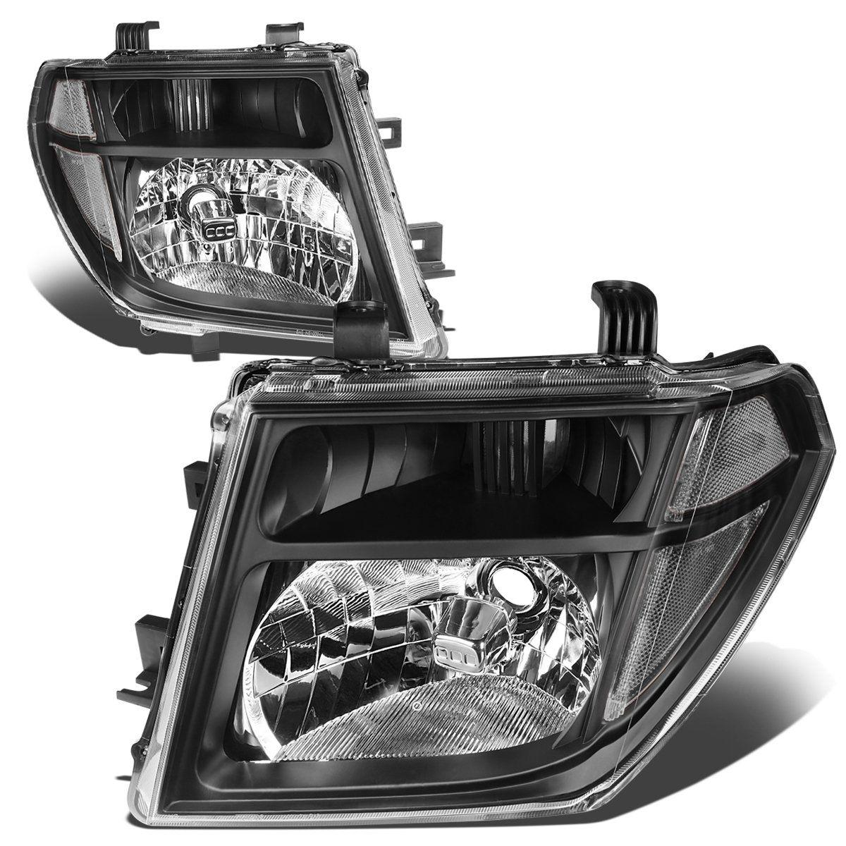 05 08 Nissan Frontier Pathfinder Headlights Black Housing Clear Corner In 2021 Nissan Frontier Nissan Black Headlights