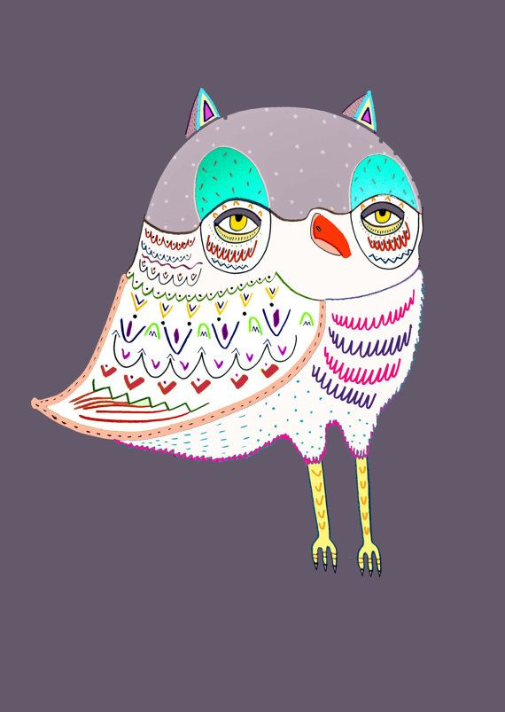 Magical Owl. Limited edition art print by Ashley by AshleyPercival, $40.00 illustration, owl, art, print, design, children's,