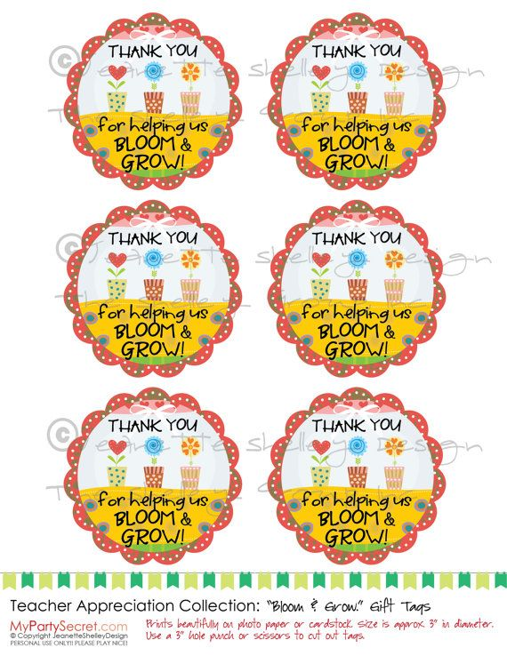 It is a picture of Thank You for Helping Us Grow Printable inside flower