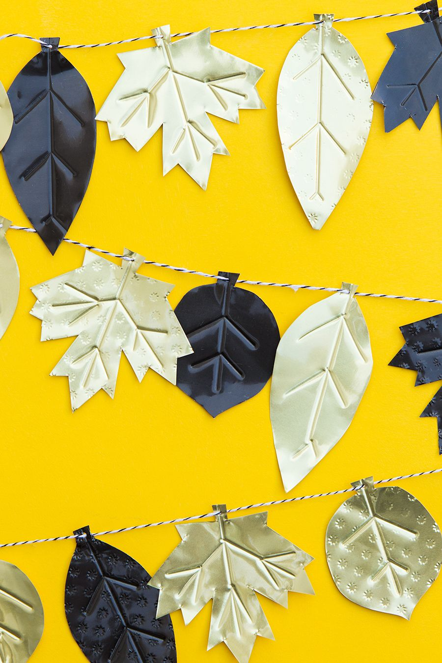 DIY Metal Fall Leaf Garland | Fall leaves, Garlands and Leaves