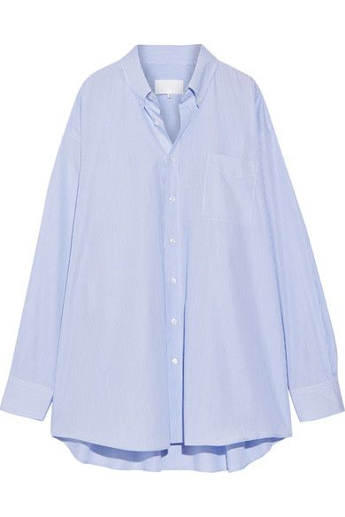MAISON MARGIELA. Blue Striped ShirtsStripe ...
