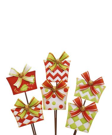 Look what I found on #zulily! Large Gift Box Stake Set #zulilyfinds