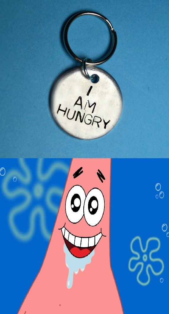 Hungry Fun Gift Funny Keyring Quote Uk Ideas Best Friend Birthday For HerGift HimHandstamped Handstamped