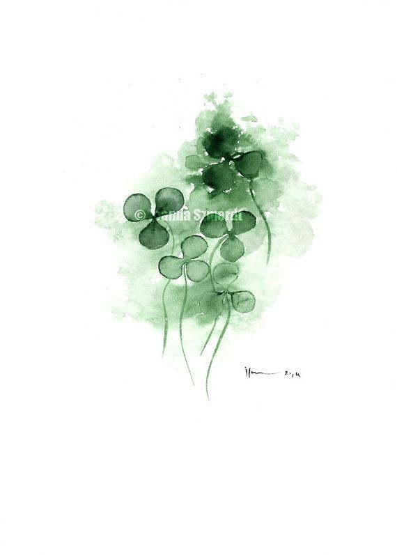 4 Leaf Clover Watercolor Tattoo Google Search Avec Images