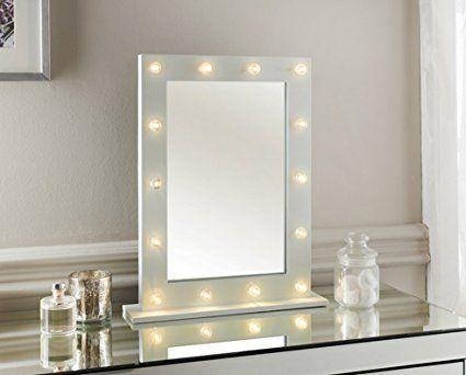 White Hollywood 14 Led Light Vanity Mirror Bedroom Bathroom Dressing