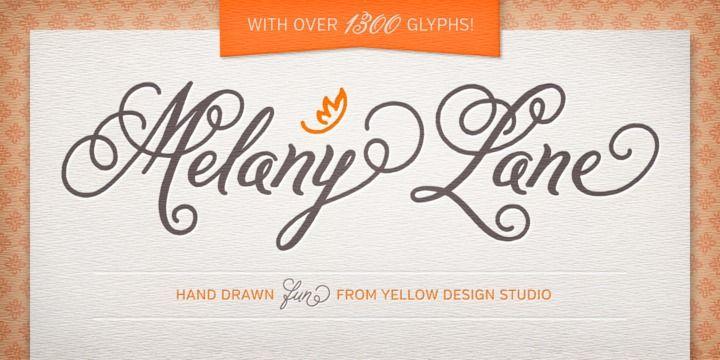 melanie script font free