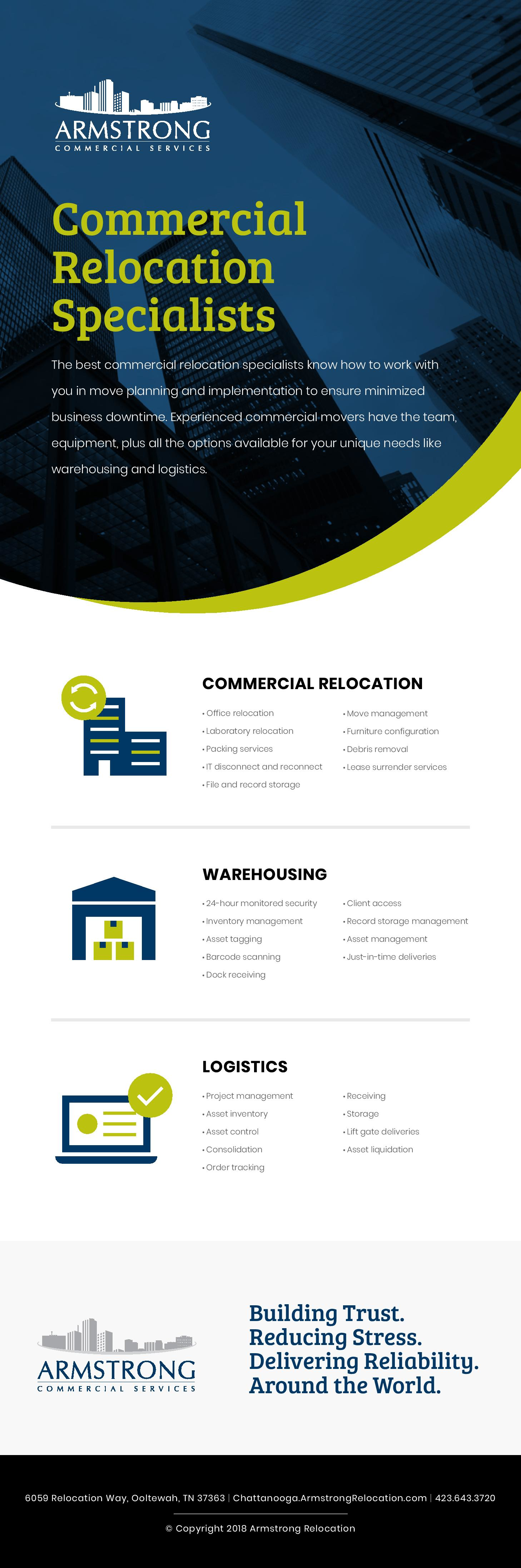 Armstrong Commercial Services Chattanooga Commercial Relocation