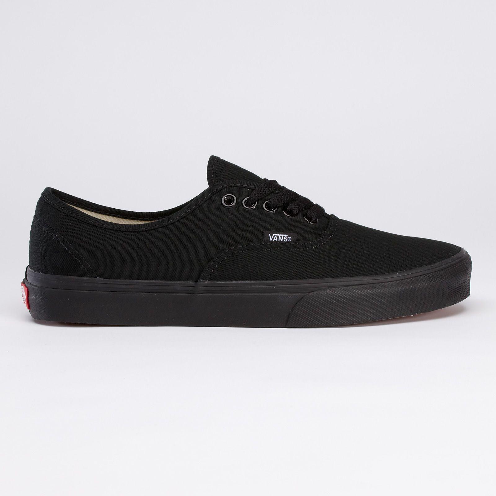 black vans all black