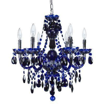 Roxy Lighting Concerto 6 Light Cobalt Blue Chandelier With Images