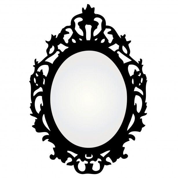 vintage mirror frame vector window decor pinterest