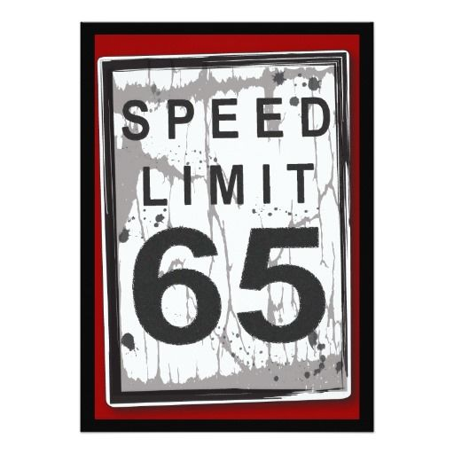 65th birthday party grungy speed limit sign invitation in 2018 dom
