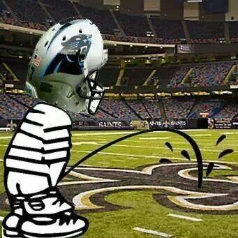 Heres what the panthers think bout the saints nah there a good team wel just beat them