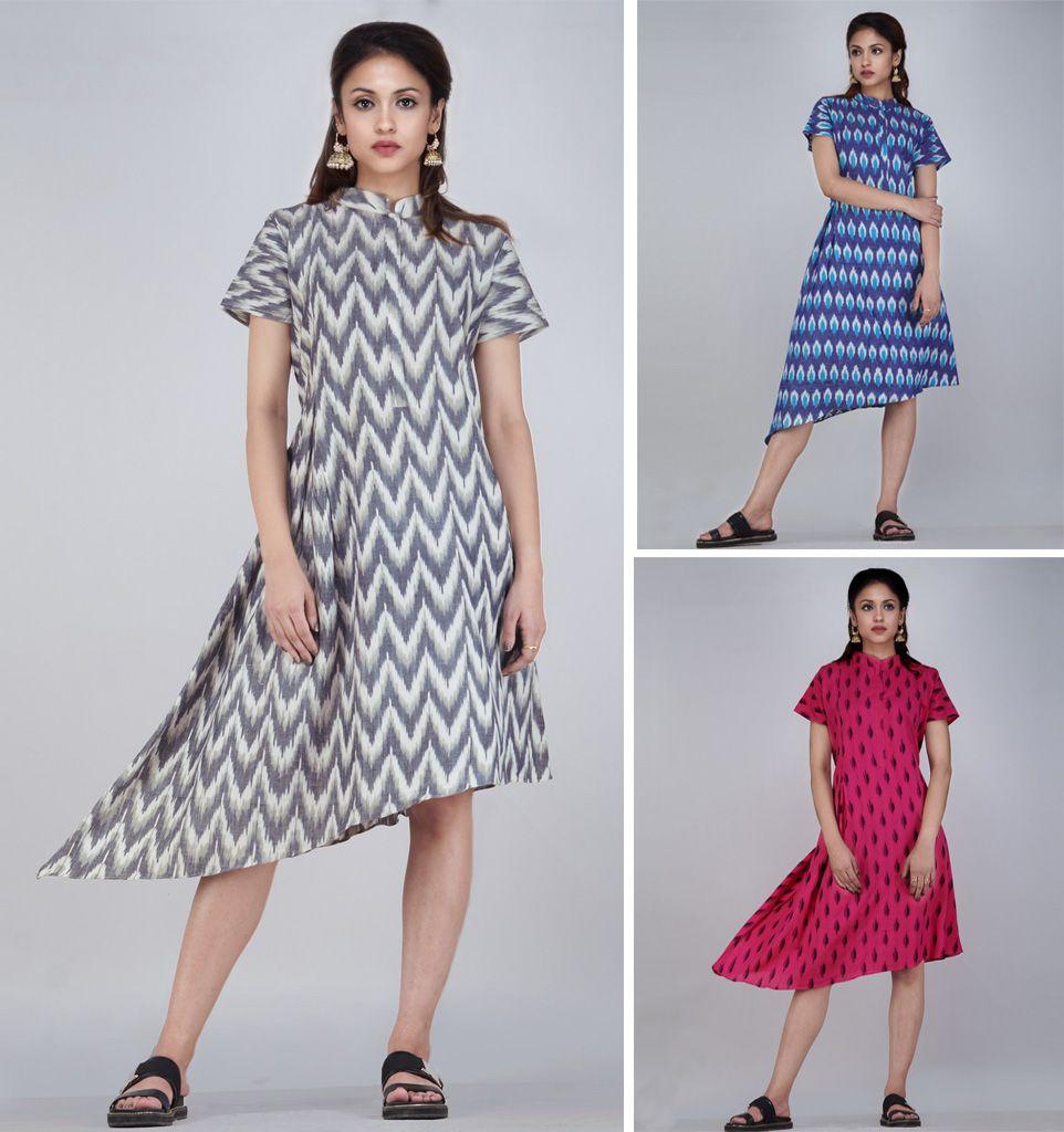685ef8f3 Stylish designer kurtis online at Unnati Silks. Buy Pochampalli cottons, kurti  tops, ladies