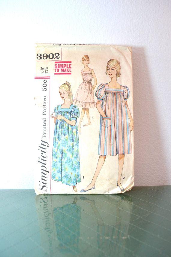 1960s Vintage Simplicity Pattern 3902 Misses by TabbysVintageShop ...