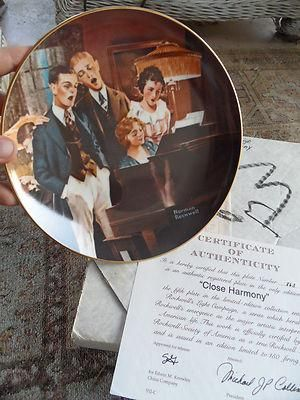 Norman Rockwell Plate: Close Harmony  #863 5th in Light Campaign Series
