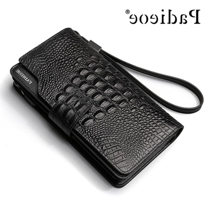 33.98$  Buy here - https://alitems.com/g/1e8d114494b01f4c715516525dc3e8/?i=5&ulp=https%3A%2F%2Fwww.aliexpress.com%2Fitem%2FNew-2017-Fashion-Leather-Wallet-Men-Famous-Long-Design-crocodile-Pattern-genuine-cow-leather-Wallet-Men%2F32787516802.html - New 2017 Fashion Leather Wallet Men Famous Long Design crocodile Pattern genuine cow leather Wallet Men Luxury Brand Wallets 40P 33.98$