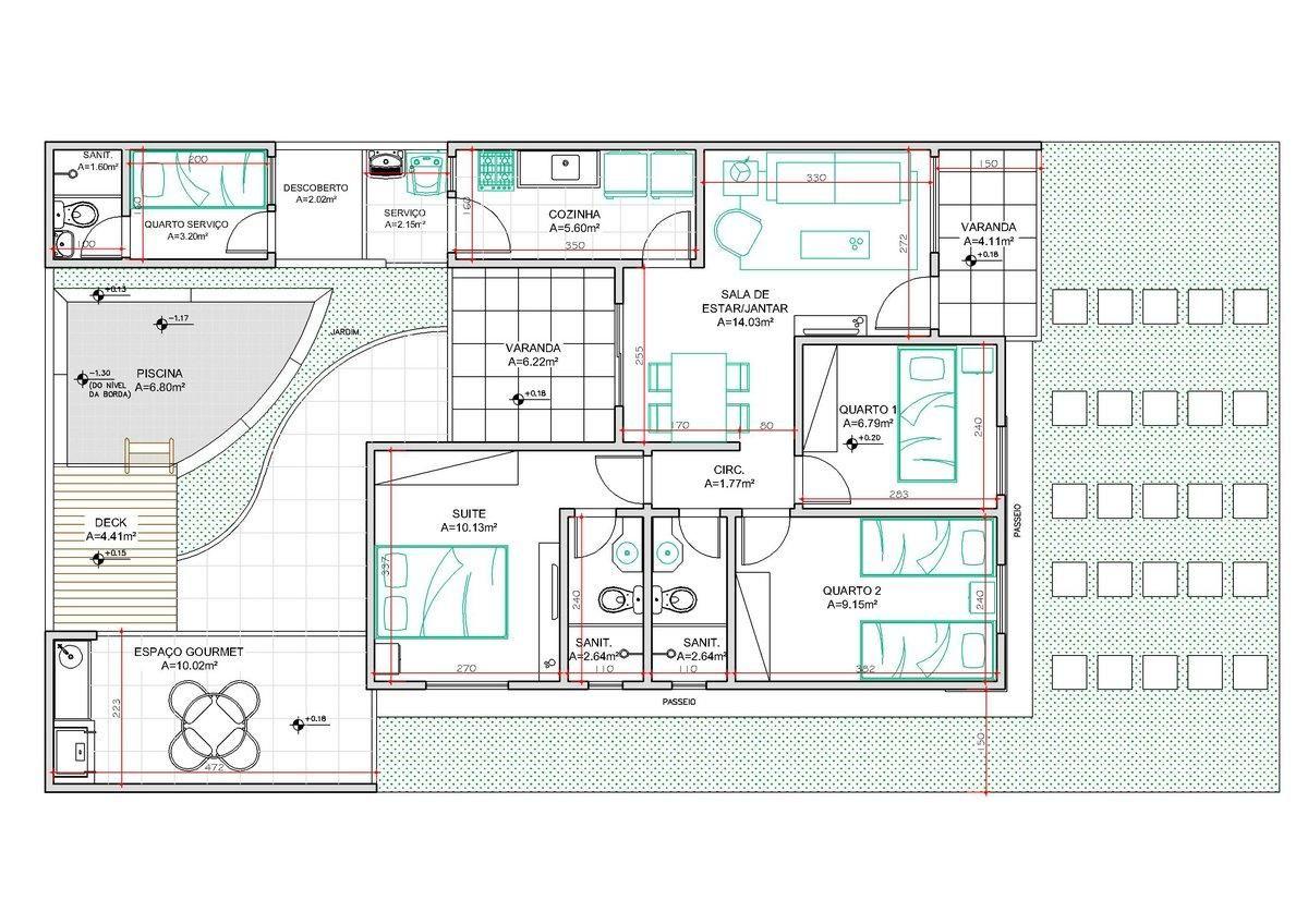 Decora O E Projetos Plantas De Casas Com 3 Quartos E 2 Banheiros