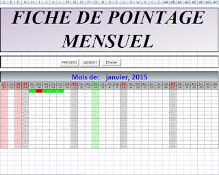 2 Feuilles De Pointage Salarie Excel Modele De Feuille Feuille De Presence Modele De Rapport