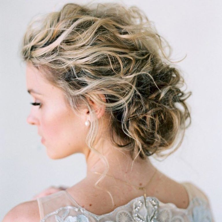 45 Charming Bride S Wedding Hairstyles For Naturally Curly: 30 Wedding Hairstyles For Naturally Curly Hair