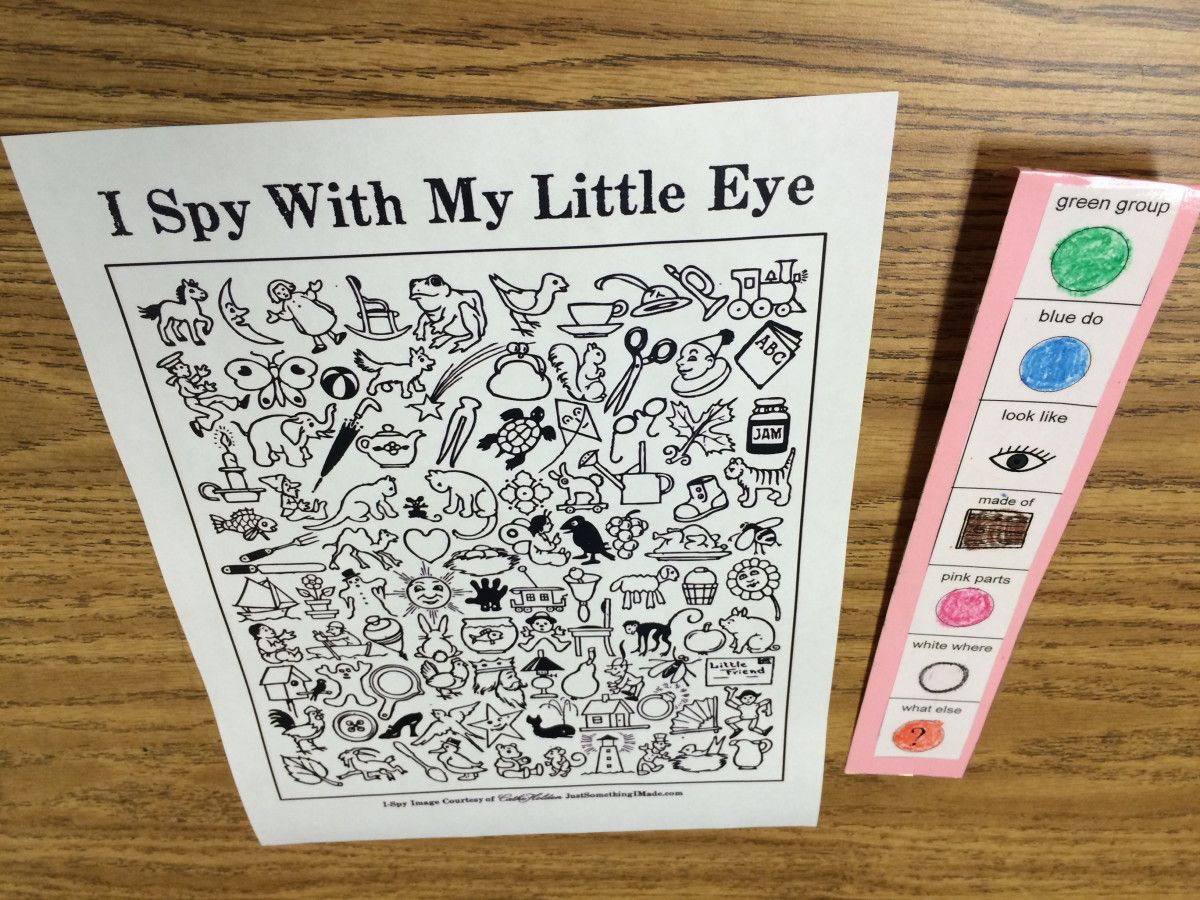 I Spy With My Little Eyes Eet Activity