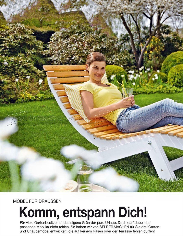 Sun Lounger Plans Outdoor Furniture Plans Drevo Sun