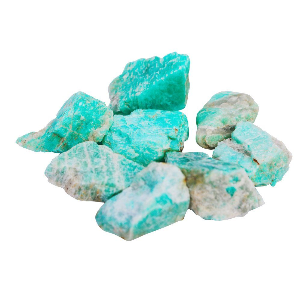 Raw Amazonite Crystal Crystals Gemstones Rocks Minerals