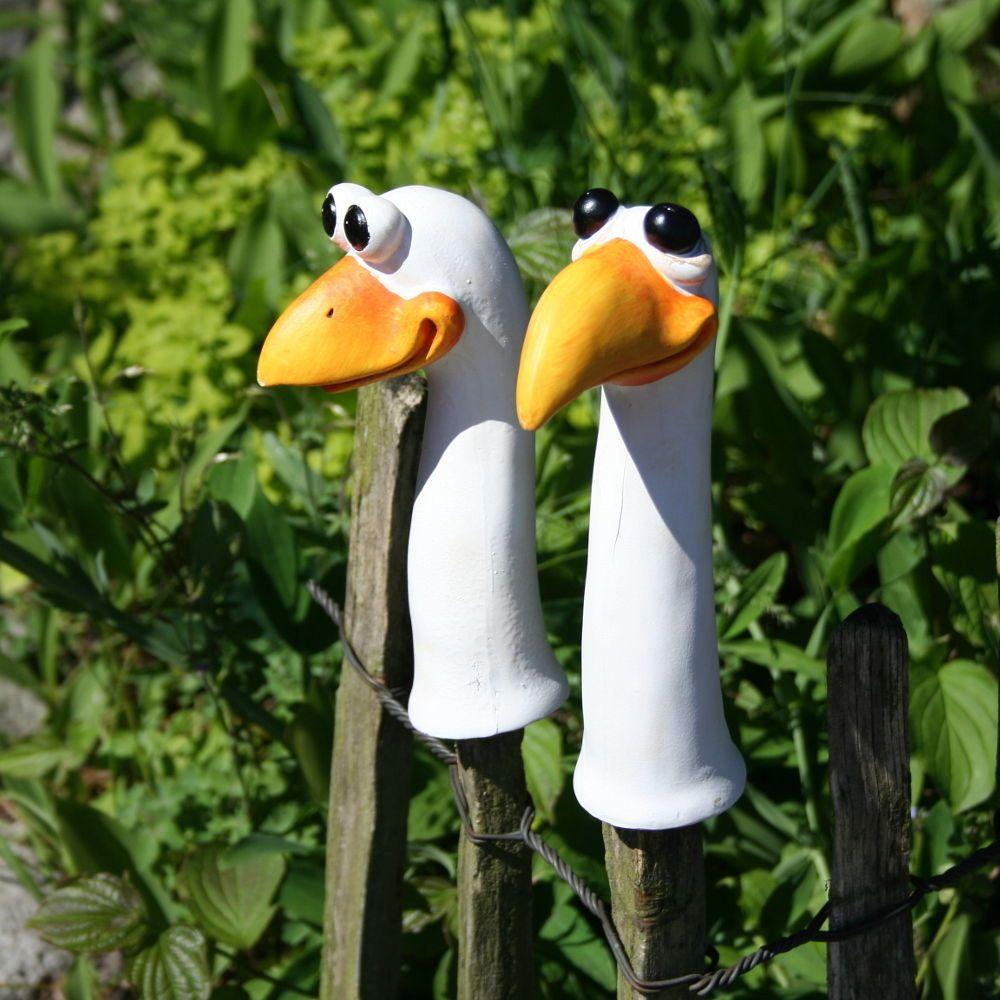 Zaunhocker Lustige Vögel 2er Setzaunguckerfigurenzaunfigur