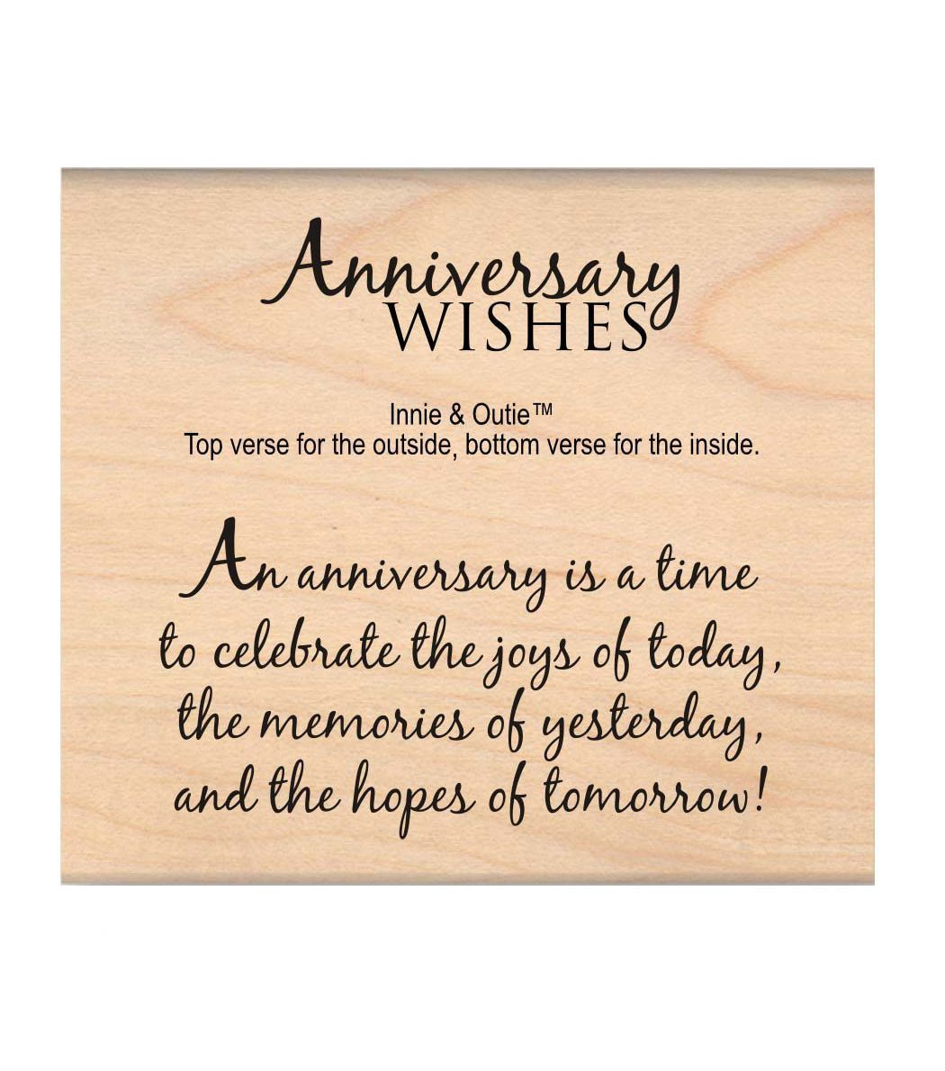Mse My Sentiments Exactly Anniversary Wishes Mounted Stamp 2 5 X3