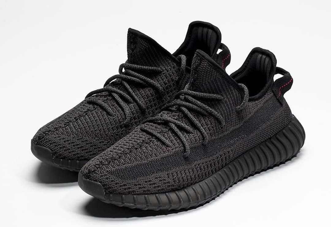 Early look on adidas yeezy boost 350 V2 black static reflective