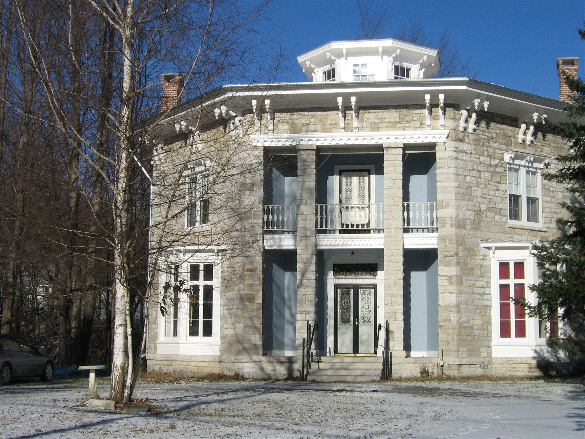 The Yale Cady Octagon House Yale Lock Factory Site Is A Private