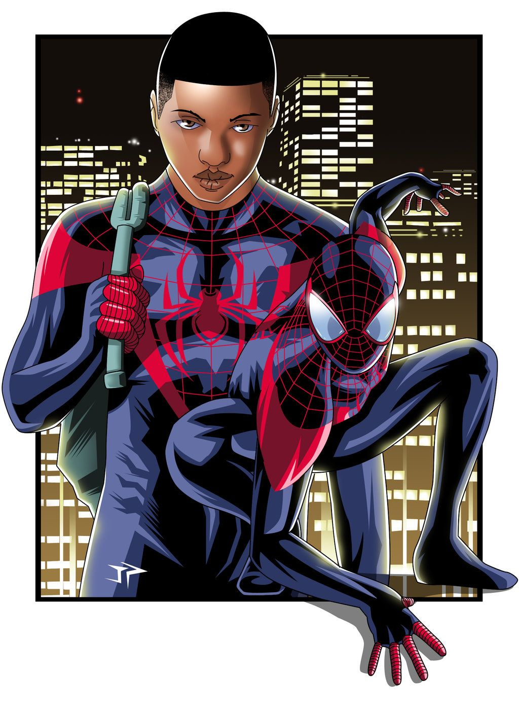 Ultimate Spiderman Miles Morales art by Jonathan Piccini ...