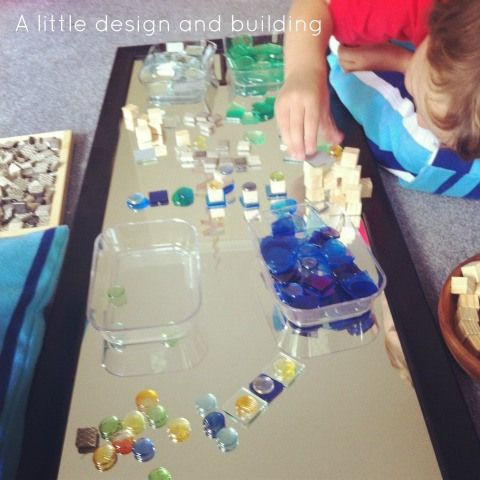 reggio activities exploring design with mirrors and loose parts an everyday story This Week…18/52
