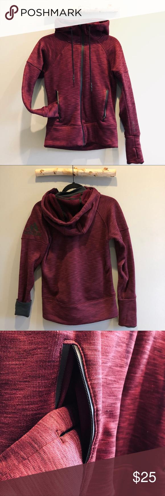 Predownload: Adidas Climaheat Magenta Fleece Full Zip Xs 4 6 Colorful Hoodies Fleece Jackets For Women [ 1740 x 580 Pixel ]