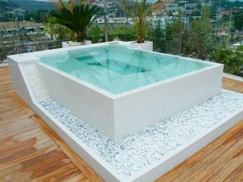 Jacuzzi cuadrado campo jacuzzi exterior en 2019 - Jacuzzi para terrazas ...