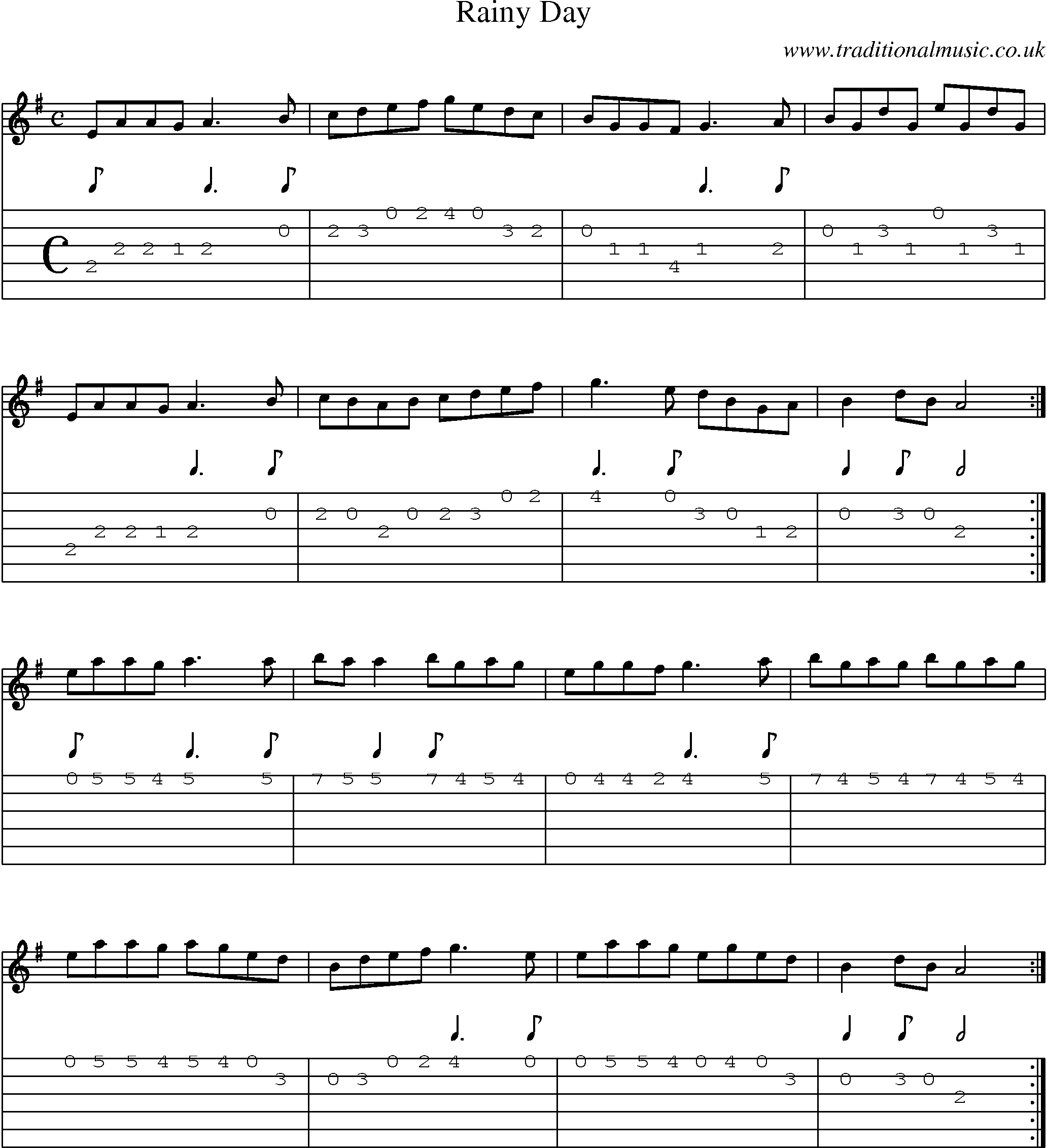 Music score and guitar tabs for rainy day mandolin jams mandolin hexwebz Images