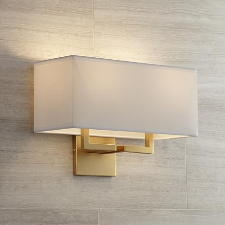 George Kovacs Rectangle 11 High Gold Wall Sconce W1297 Lamps Plus Gold Wall Sconce Gold Walls Modern Wall Sconces George kovacs wall sconces