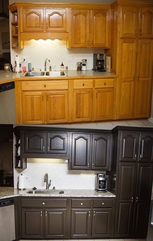 Diy professional looking painted cabinets for under 100 with nuvo cabinet paint kits www - How to glaze kitchen cabinets that are painted ...