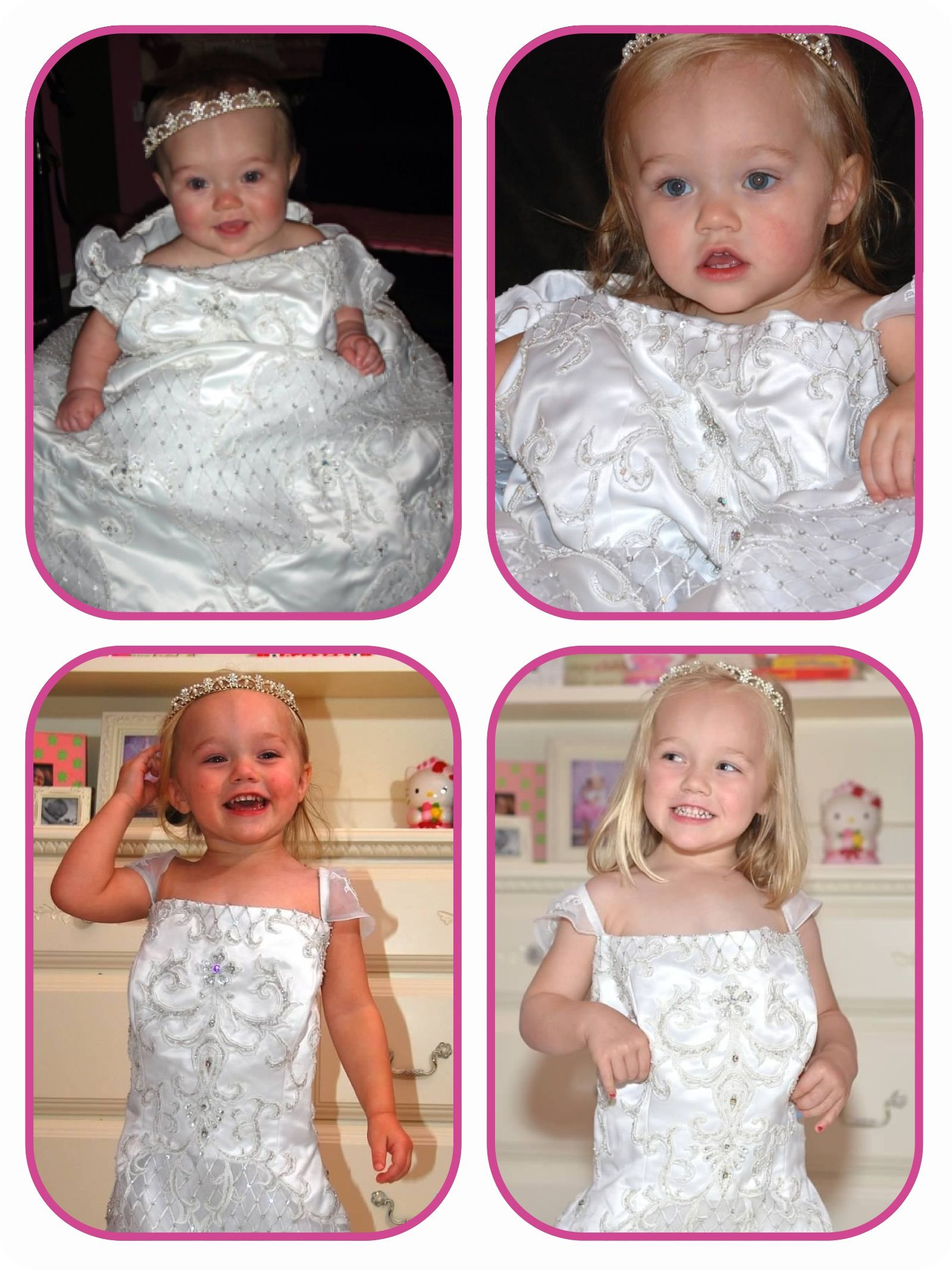 Awesome Annual tradition - each year on our anniversary our daughter wears my wedding dress!