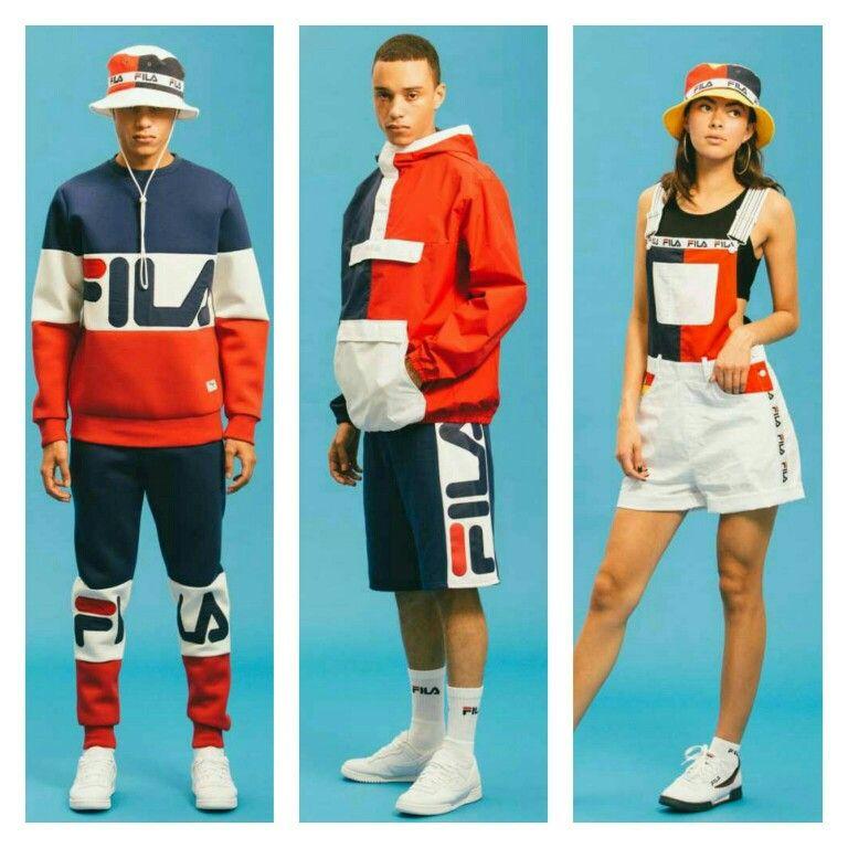 Hot trends in #athleticwear #streetwear VINTAGE 80u0026#39;s 90u0026quot;s @FILA 2016 Spring/Summer u0026quot;Black Line ...