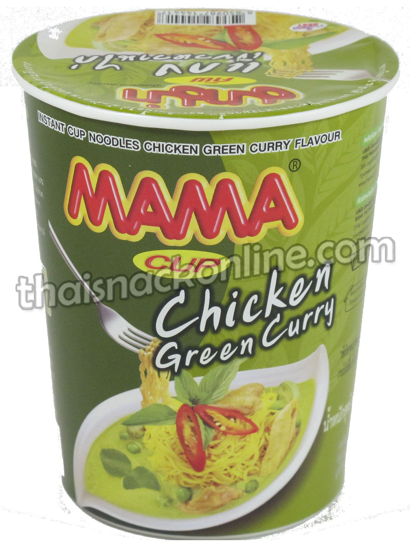 Mama Cup Green Chicken Curry 60g Instant Recipes Thai