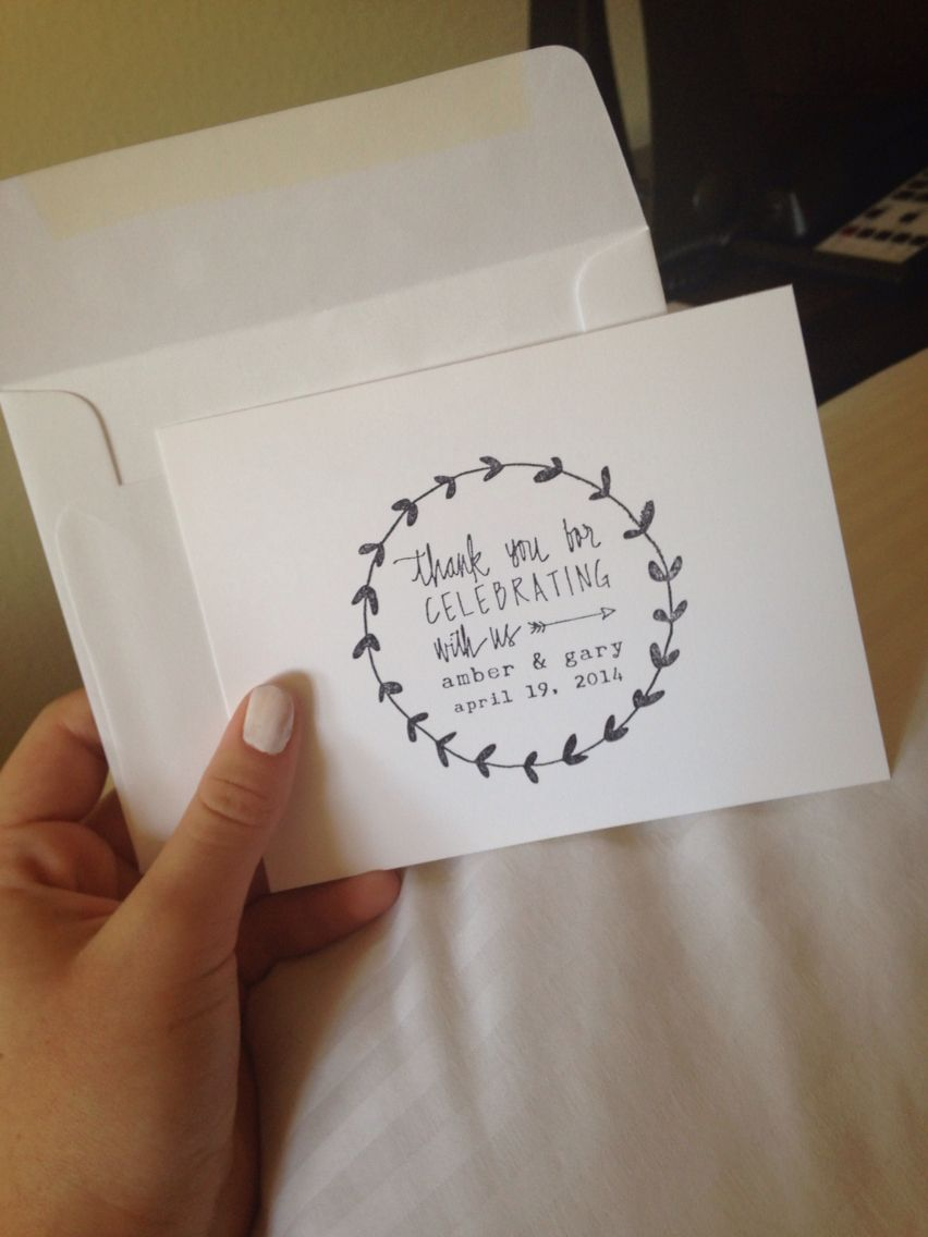 Cute diy thank you cards and gift bags for guests who