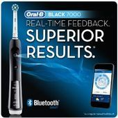 OralB BLACK 7000 SmartSeries Power Rechargeable Electric Toothbrush with Blueto OralB BLACK 7000 SmartSeries Power Rechargeable Electric Toothbrush with Blueto