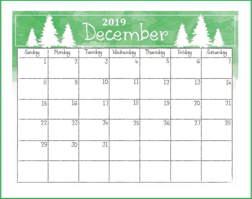 Printable December 2019 Desk Calendar Desk Calendars December