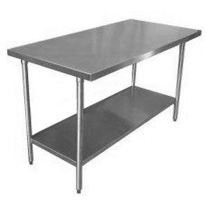 Regency 30 X 60 16 Gauge 304 Stainless Steel Commercial Work Table With Undershelf Stainless Steel Work Table Steel Table Stainless Steel Prep Table